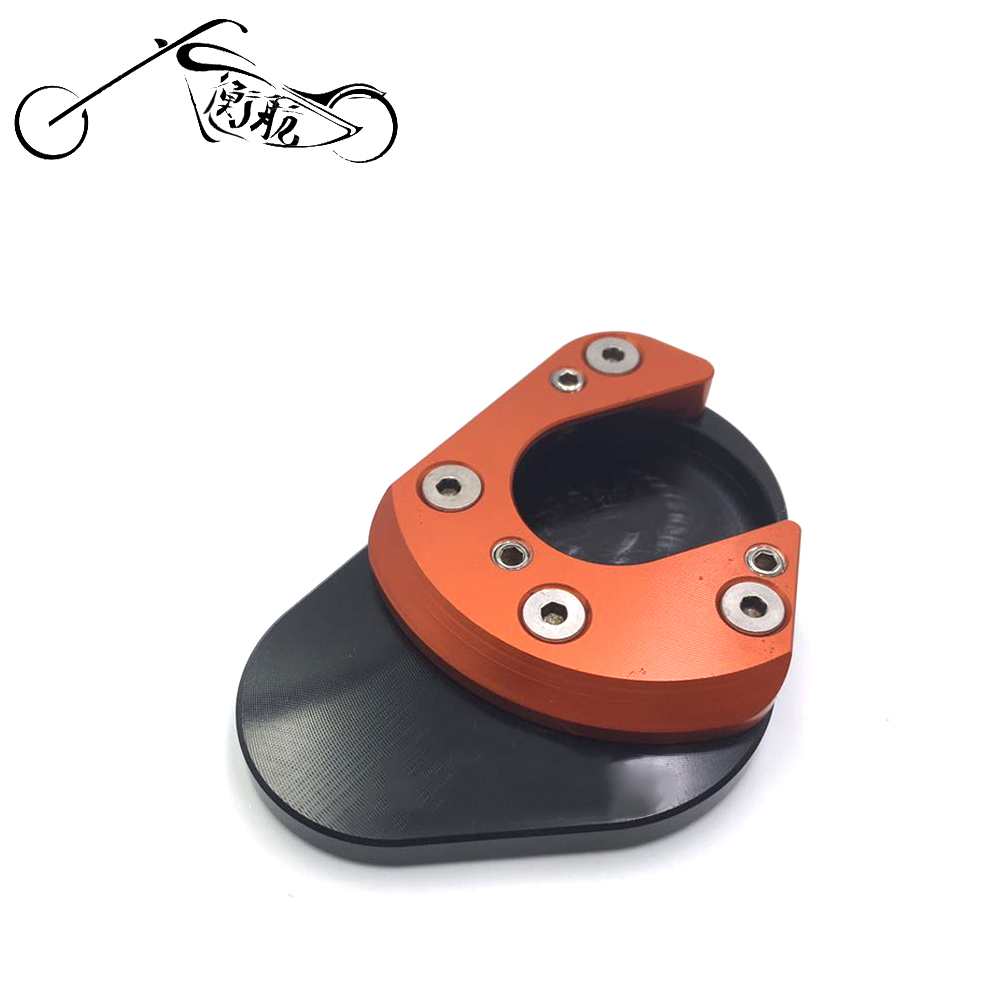 Motorcycle CNC Aluminum Side Stand Enlarger extension pad For KTM DUKE 125 200 390 2013 2014 2015 image