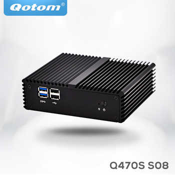 Qotom mini pc i7 Q470S with Core i7-4500U up to 3.0GHz AES-NI 3G/4G SIM slot,WOL 7/24h Fanless Low Power small desktop computer