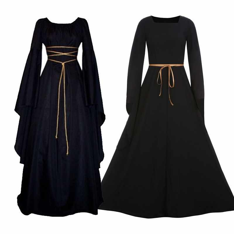 487f73d15747 ... Adult Witch Gothic Queen Of Vampire Black Fancy Dress Girls. D-RoseBlooming  Black Vintage Renaissance Wedding Dress Gothic Victorian Ball Gowns (X-Small