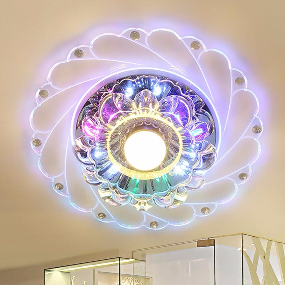 Mabor Luminaria Modern Crystal LED Colorful Light Lighting Living Room Ceiling Chandelier Decor modern crystal chandelier led hanging lighting european style glass chandeliers light for living dining room restaurant decor