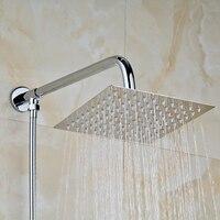 Solid Brass Chrome Polished Bathroom 8 Square Shower Head Shower Head 150cm Shower Hose