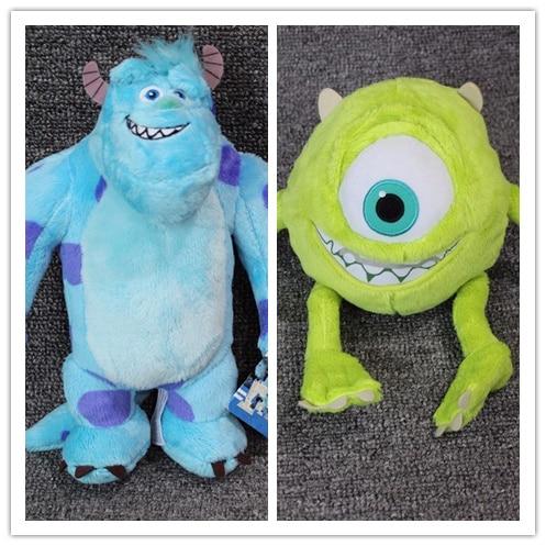 1pair Monsters University Monster 25cm Mike Wazowski And 28cm James P. Sullivan Plush Toys For Kids Birthday Gift Stuffed Doll