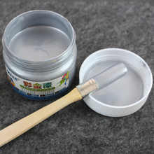 Silver Water-based Paint ,Metallic lacquer , wood varnish, Furniture Color change, wall,door,crafts, Painting,100 g per bottle