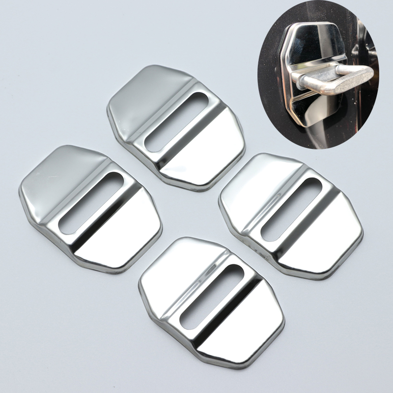 Excellent Stainless Steel Door Lock Buckle Protective Cover for <font><b>Mercedes</b></font>-benz c class W204 W205 CLA <font><b>180</b></font> 200 250 220 car-styling image