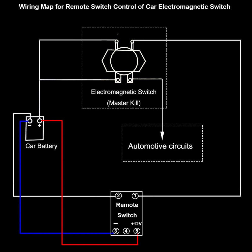 Dc 12v Automobile Car Battery Switch Disconnect Remote Kit Terminal Marine Wiring Diagram Master Kill Latching Relay Electromagnetic Solenoid Valve In Cables Adapters Sockets