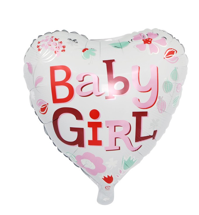 10 Pcs/lot Cute Baby Girl Heart Boy Star Happy Birthday Foil Balloons Birthday Party Decoration Supplies Baby Shower