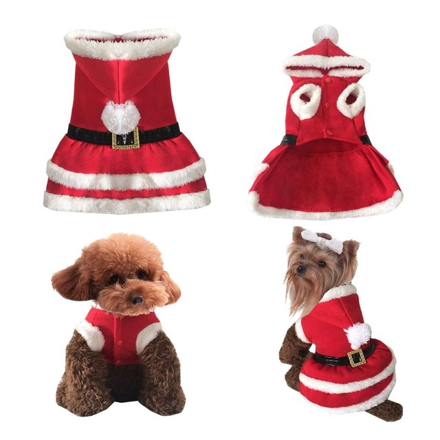 Dog Christmas Clothes Dress Costume Winter Dog Coat For Small Dogs Cats  Chihuahua Yorkshire Terrier Pet - Dog Christmas Clothes Dress Costume Winter Dog Coat For Small Dogs