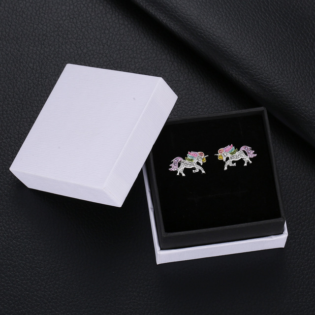 Unique Charming Crystal Unicorn Earrings
