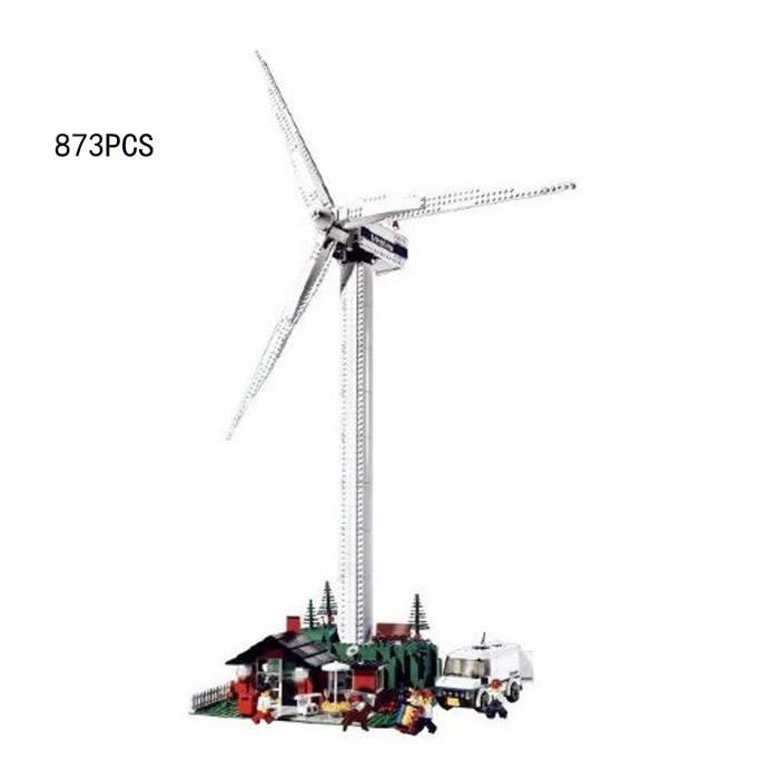 Classic creator city street view Vestas Wind System generator block with motor windmill model lepins bricks 4999 electric toys