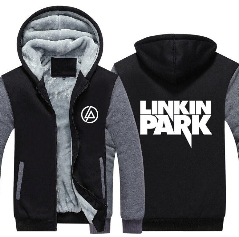 USA SIZE Men Women Linkin Park Adult Thicken Hoodie Zipper Sweatshirts Coat Jacket