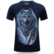 20 style S-6XL 3D T-shirt Mens Hot 2017 Summer Animal Snake Tiger Wolf Lion Printed T-shirts Men Cotton Casual Brand T shirt
