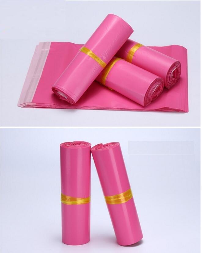 Yu11 28 28 42cm 100pcs Pink Poly Envelopes Mailing Bags Parcel Sacks 100Pcs Large Plastic Mailing