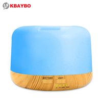 Ejoai 300ml Air Humidifier Aroma Lamp Aromatherapy Electric Aroma Diffuser 7 Color LED Light Wood Grain