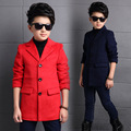2016 autumn and winter boys and girls in the long section of the material woolen coat jacket baby woolen coat