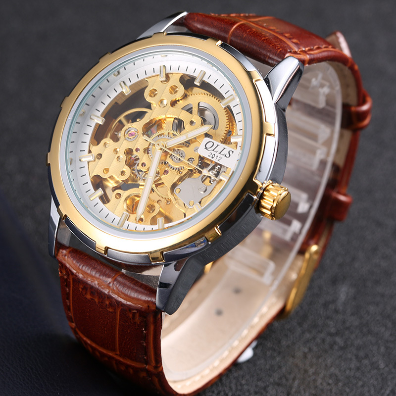 Male Mechanical Watch Automatic Hollow Skeleton Leather Male Watch Tourbillon Belt Men Sports Waterproof Luminous Wrist textiles of the islamic world