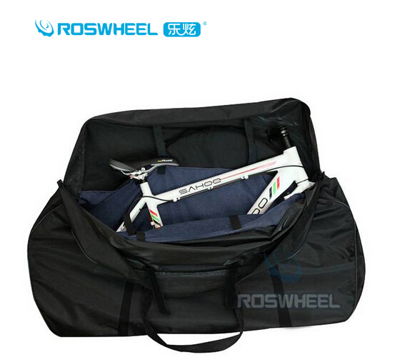 ROSWHEEL Waterproof Bicycle Carrier Bag Folding Carry Transport Bike Bag + 2 Bike Cycling Wheel Bags Bicycle Accessories эргорюкзак boba carrier vail
