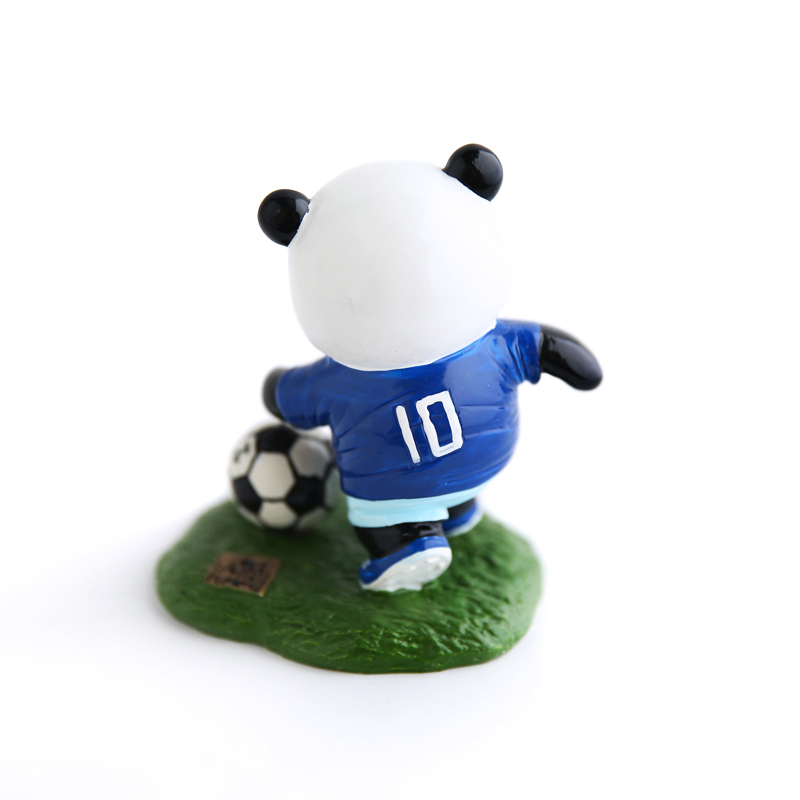 E FOUR Chinese Hand paint Football Panda Resin Dashboard Auto Interior Decoration Car Home Office Ornament Best Holiday Gift Car in Ornaments from Automobiles Motorcycles