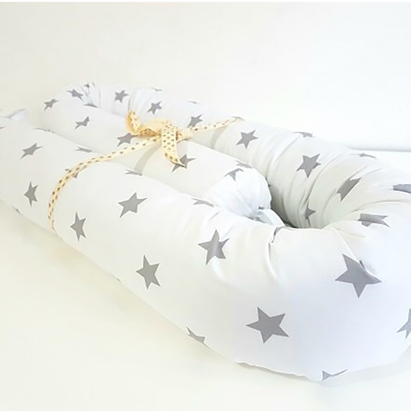 Crib Baby Bed Bumpers Safety Protection Pad Toddler Baby 125X10cm Cot Crib Bedding  Cushion Star Printing YBD018