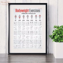 Bodybuilding Weight Exercise Canvas Art Print Painting Poster Wall Pictures For Living Room Decoration Home Decor No Frame