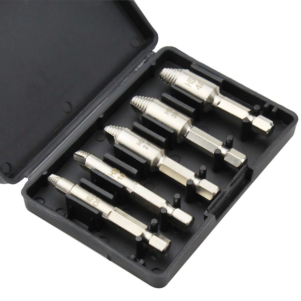 Damaged Screw Extractor Set  Easily Remove Stripped Or Damaged Screws High-Speed Steel Stripped Screw Removers