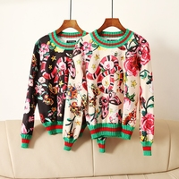 High Quality Luxury Runway Blouses for Women 2018 Spring Snake Butterfly Flower Top Pullover Black Beige