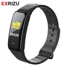EXRIZU C1PLUS Coloration Display screen Sensible Wristband Bluetooth Sensible Bracelet Band Coronary heart Charge Monitor Pedometer Health Tracker for Cellphone