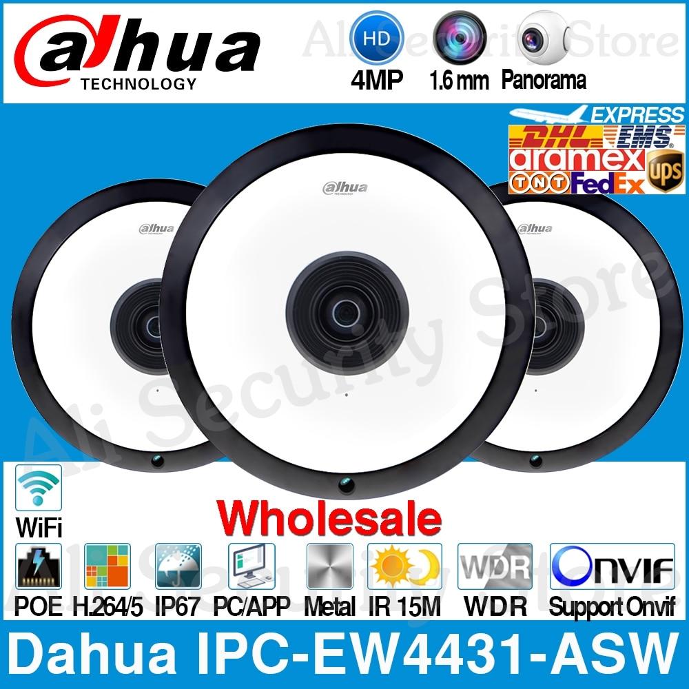 Dahua Wholesale IPC EW4431 ASW 4MP Panorama 180 Degree POE WIFI Fisheye IP Camera Built in