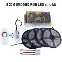 5m 10m 15m 20m 12V RGB Led Strip Light SMD 5050 5M 300led Waterproof 2 4G