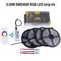 5m/10m/15m/20m 12V RGB led strip light SMD 5050 5M 300led Waterproof+2.4G RF touch controller+Amplifier+power