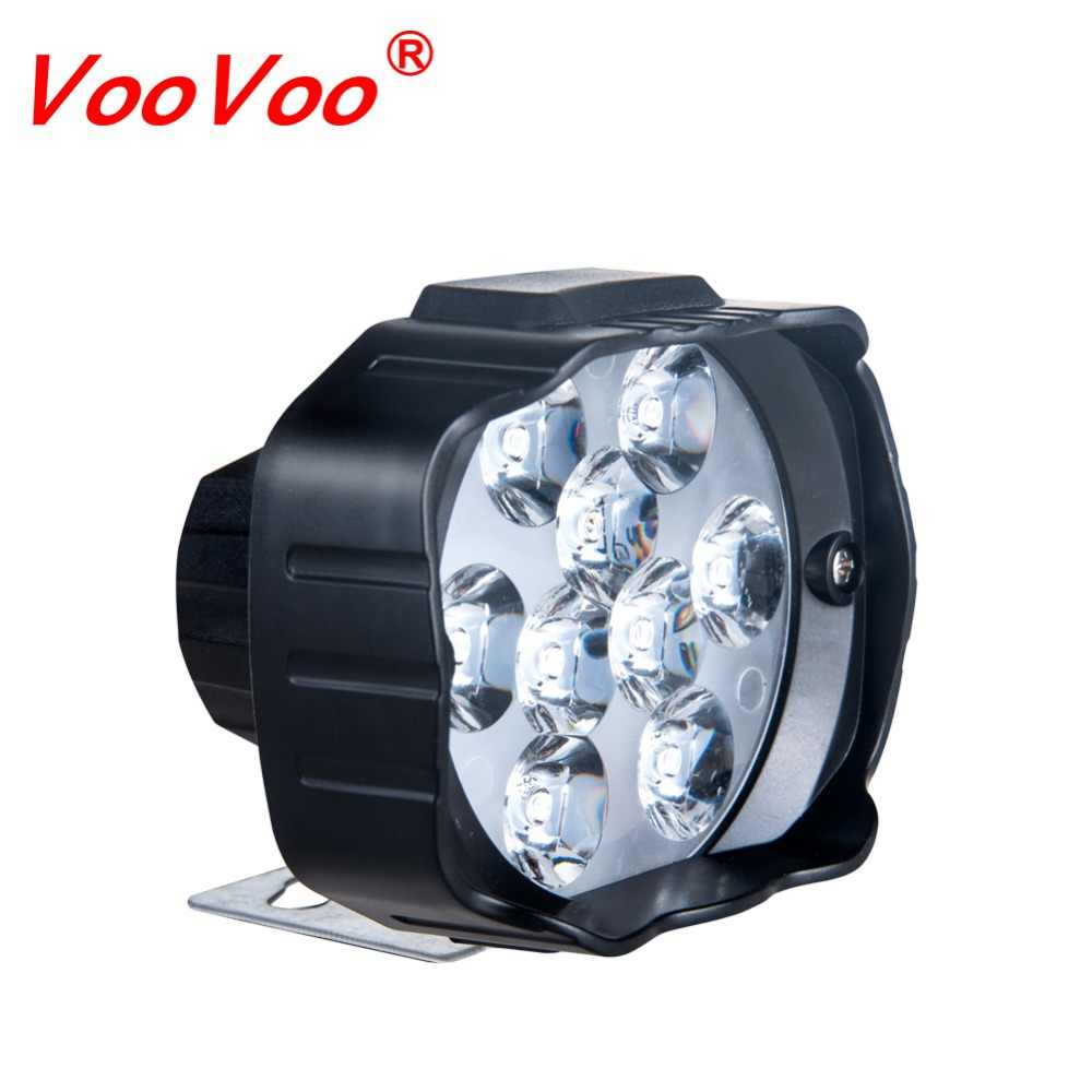 VooVoo 1PCS 9 Leds Motorcycle Headlight SpotLight 9W 1000LM 6000K White Driving Spot Lights Motorbike Scooters Fog DRL Lamp Bulb