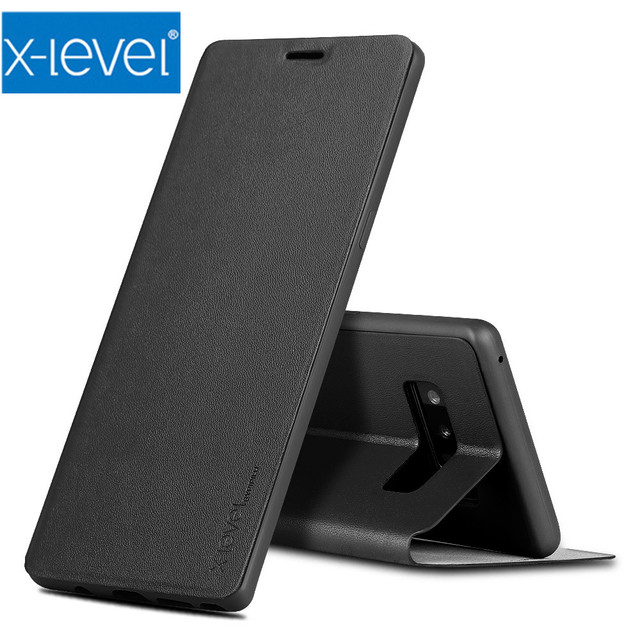 buy online c3961 42c26 US $7.97 16% OFF|X Level flip cover Case For Samsung Galaxy Note 9 8 J3 J4  J5 J6 J7 A3 A5 A6 A7 A8 2016/2017/2018 S7 Edge S8 S9 Plus Leather Case-in  ...