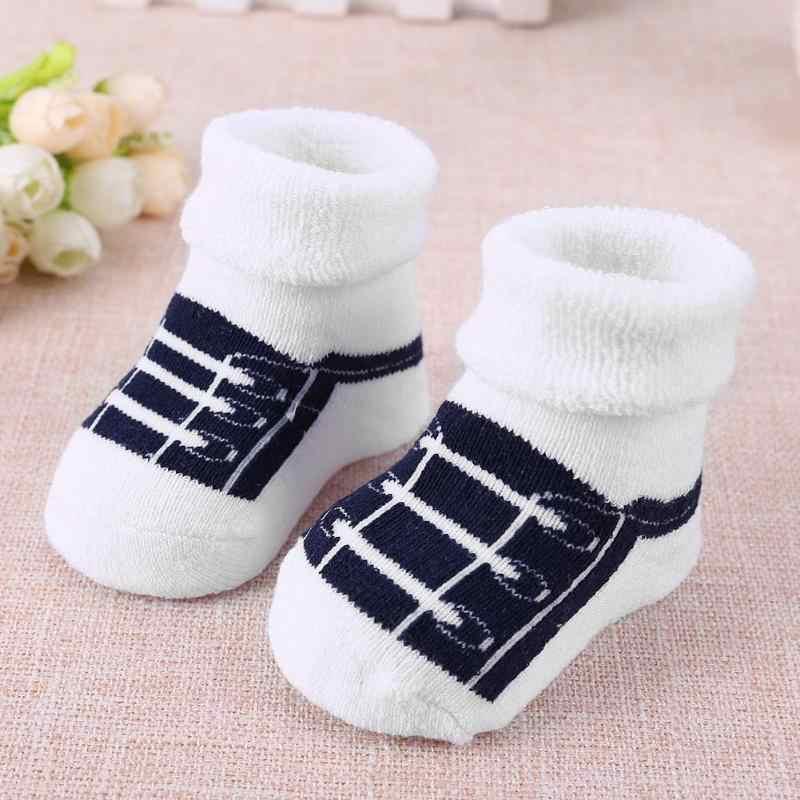 Encantadores calcetines de otoño invierno calientes para bebés y niños lindos calcetines de dibujos animados para bebés recién nacidos y niños de algodón suave para bebés calcetines para niños y niñas