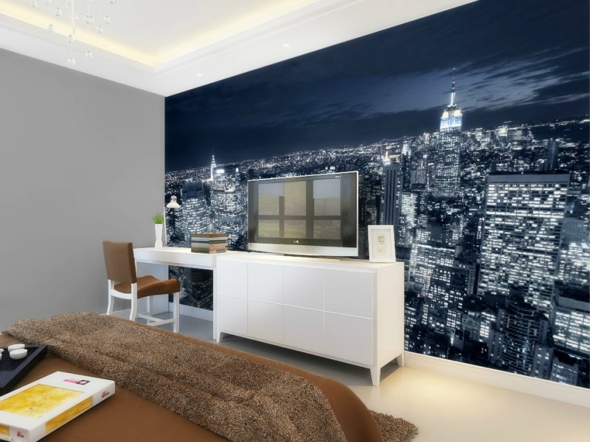 papel parede great quality!lively bright dubai night scene 3d wall