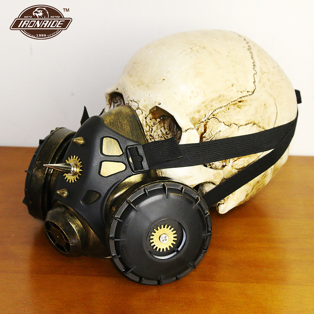 Steampunk Gas Mask Motorcycle Face Mask Balaclava Motorcycle Cosplay Carnaval Costume Props Cosplay Locomotive Mask Face Shield syvio stylish beauty cow face mask for halloween costume cosplay red