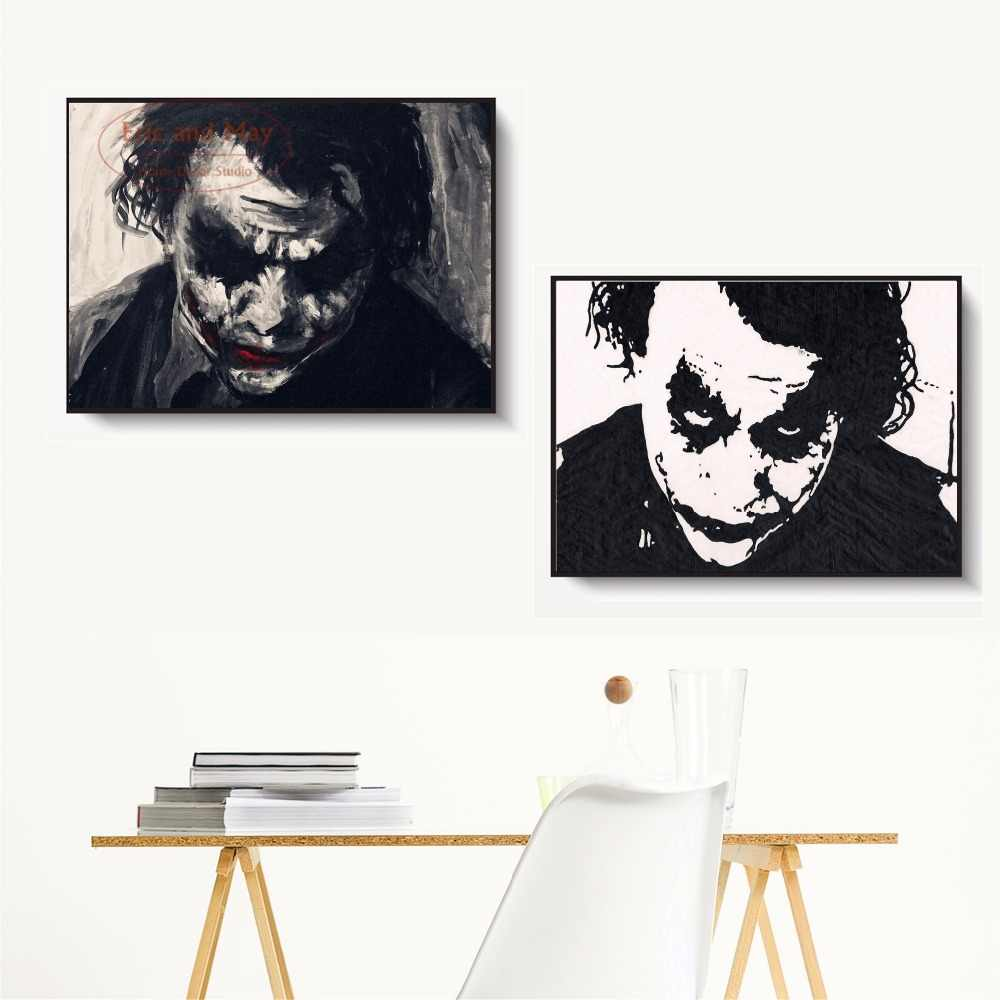 Joker Nordic Silhouette Canvas Art Painting Print Poster Wall Pictures For New Year Gifts Wall Decor Home Decoration No Frame