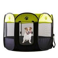 Portátil Folding Pet Tenda Casa Casa de Cachorro Gato Cão Tenda Canil Filhote de cachorro Gaiola Cercadinho Fácil Operação Octogonal Cerca Ao Ar Livre Suprimentos