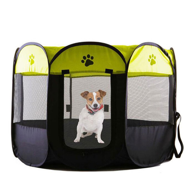 Portable Folding Pet Tent House Dog House Cage Playpen Dog Cat Tent Puppy  Kennel Easy Operation