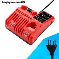 110-240 V Li-ion pil şarj cihazı + 1 ADET USB Adaptörü Milwaukee M12 M18 48-11-1815 48-11-1828 48-11-2401 48-11-2402 yüksek kalite