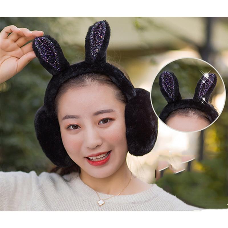 1 Stücke Gehörschutz Weibliche Winter Ohr Wärmer Flanell Earwarmers Niedlichen Kaninchen Ohr Für Frauen Geschenk Abdeckung Ohr Quell Sommer Durst