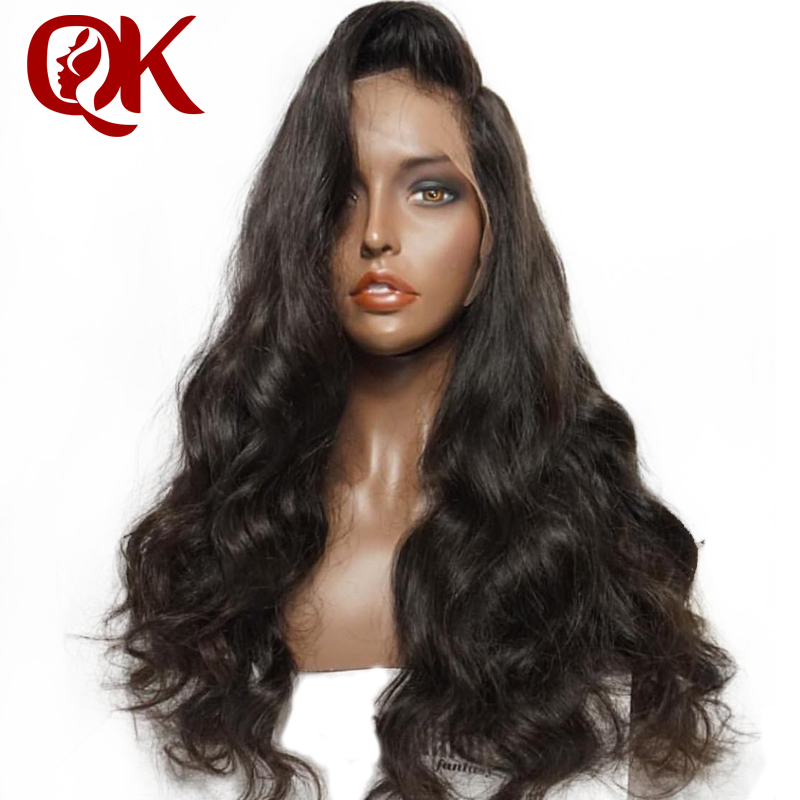 QueenKing Hair 13x6 Lace Frontal Wig Pre Plucked With Baby Hair 8 26 Body Wave Natural