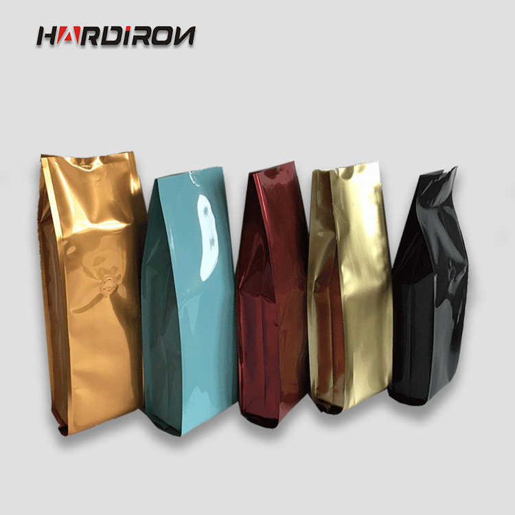 HARDIRON 3.9x13.1x2.4 inch 10 Piece Colored Aluminum Foil Pouch One-Way Valve Vacuum Heat Seal Bag Tea Coffee Dried Fruit Sack