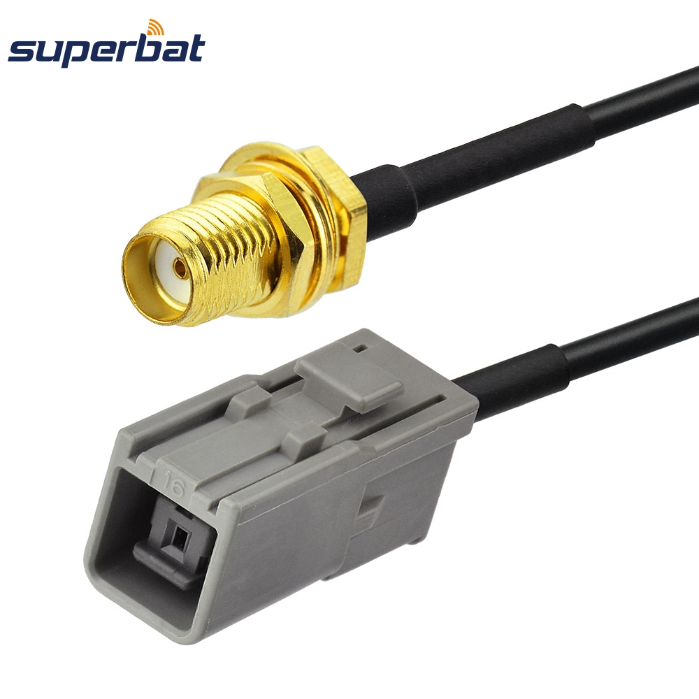 Супербат РФ коаксијални кабл ГПС антенски адаптер кабел СМА до ГТ5-1С ХСР за Мерцедес Цом Пигтаил ГТ5 до СМА Јацк преграда 15цм