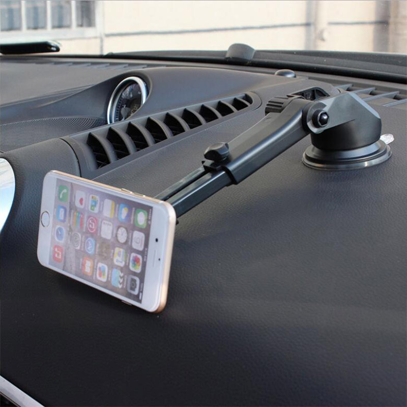 Car Dashboard Table Suction Holder Bracket Work On Windshield Telescopic Magnetic Car