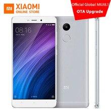 Original xiaomi redmi 4 pro teléfono móvil 3 gb ram 32 gb rom Snapdragon 625 Octa Core CPU 5 pulgadas 13.0mp Huellas Digitales MIUI 8.1