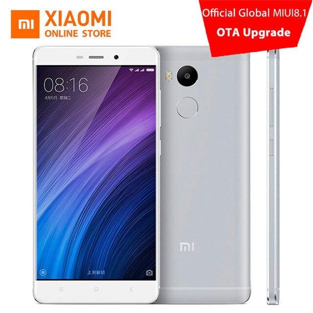 Original xiaomi redmi 4 pro mobile phone 3 gb ram 32 gb rom Snapdragon 625 Octa Core 5 polegada 13.0mp Fingerprint MIUI 8.1