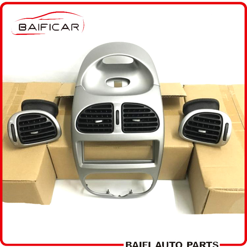 Baificar Brand New Genuine Silvery Instrument Pancel Dashboard Cover Air Vent Duct Panel For Peugeot 206