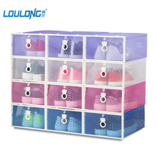 2017 New bear Eco-Friendly Shoe Storage Box PP Transparent Shoes Container Holder Plastic Storage Boxes Shoe Organizer YJ008