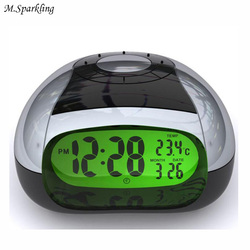 M.Sparkling Intelligent Alarm Clock LED Eye Product Night Light 5 Colors Talking Clock Modern Music Watches Livingroom Diaplay
