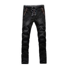 2016 зимний мужской толстый классический Высокое качество джинсы, мужские прямые джинсы, мужская хлопок джинсы Карандаш Брюки Большой размер 28-42