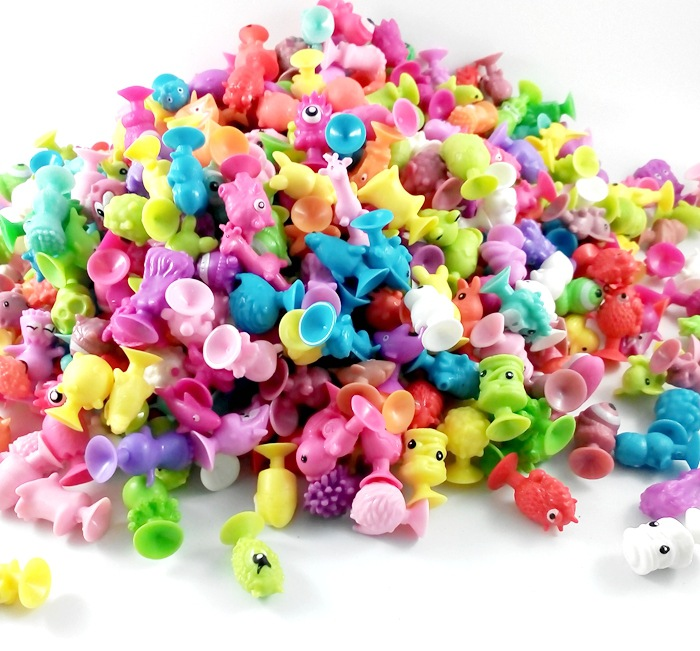 25-200Pcs Minifigure lidl Action figure sucker toy Stikeez Kids Toys Mini Capsule Children Gift Sent Random